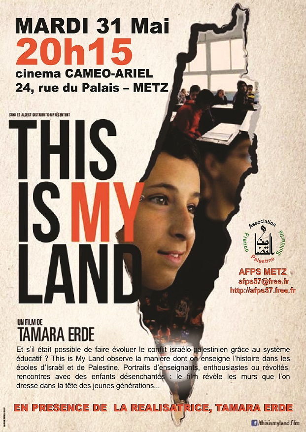 Affiche de la projection du film This is My Land