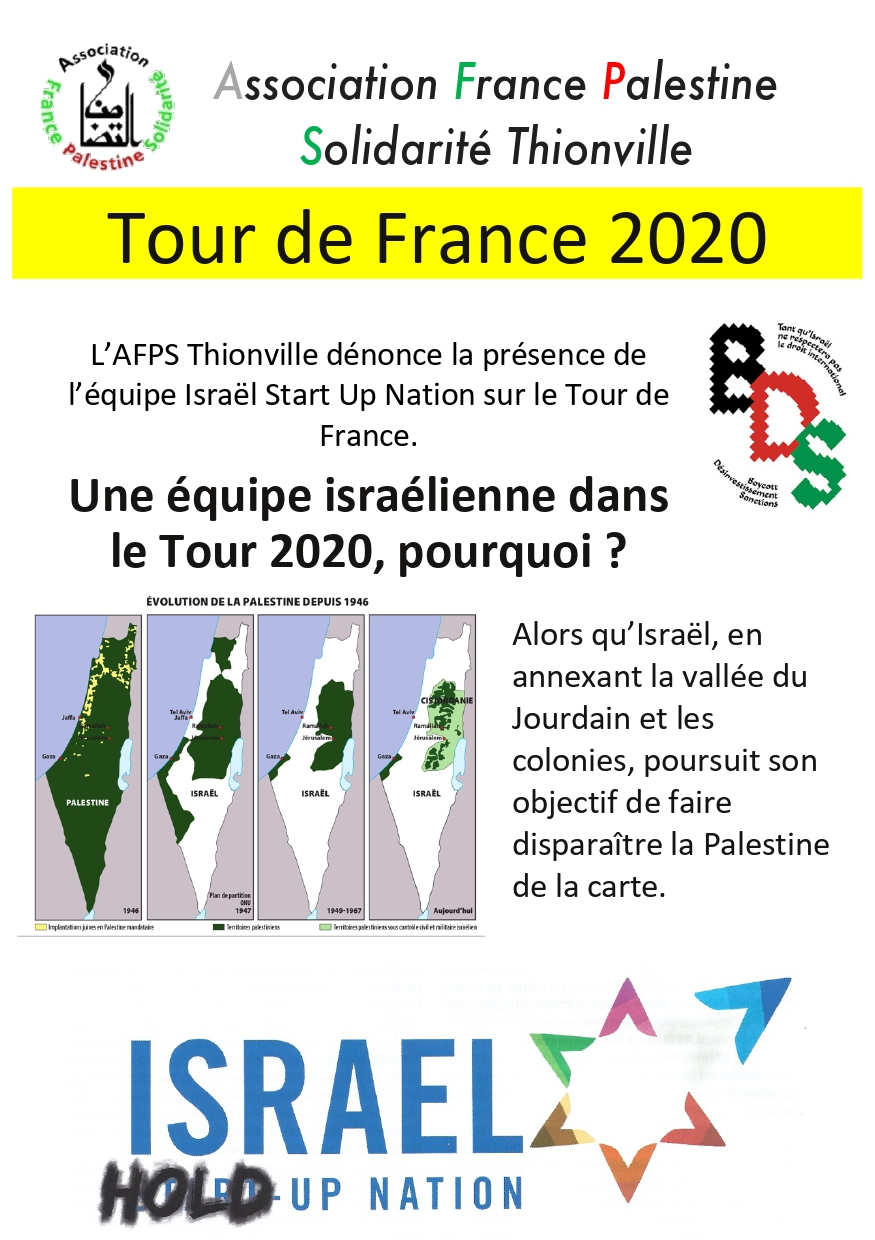 Tract de l'action Tour de France 2020 à Thionville