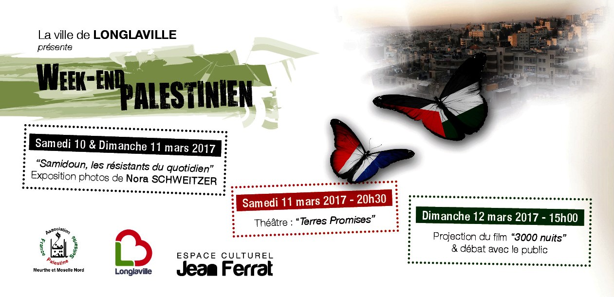 affiche du week-end Palestine